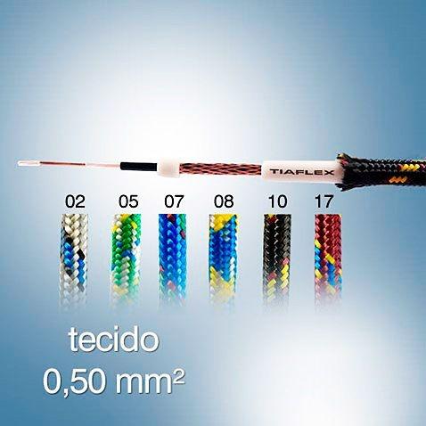 CABO GUITARRA COBERTURA TECIDO 0.50 MM²
