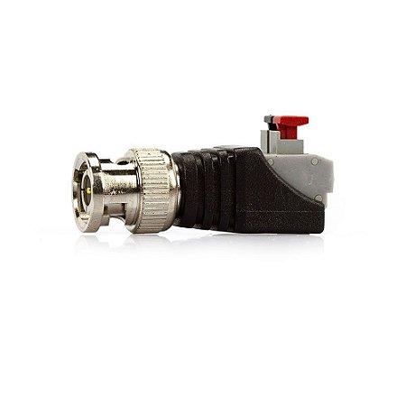Adaptador Borne Ppressão X Plug BNC Macho