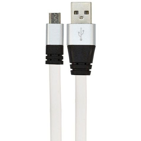 CABO USB DE SILICONE CARREGADOR E DADOS CELULAR MICRO USB