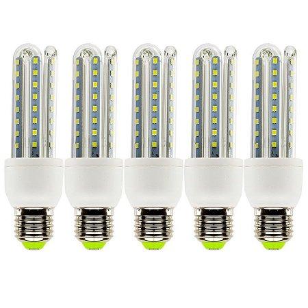 5 Lâmpadas de Led 9W, E27, 6500K, Super Econômica