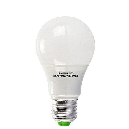 Lâmpadas 7W LED Bulbo E27, 600K, Bivolt - Branco Frio