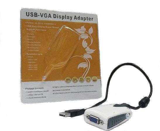 Conversor de Vídeo USB 2.0 para VGA