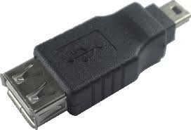 Adaptador USB Fêmea para Mini USB Macho