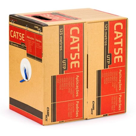 Caixa de Rede UTP CAT5e 125 metros ChipSce