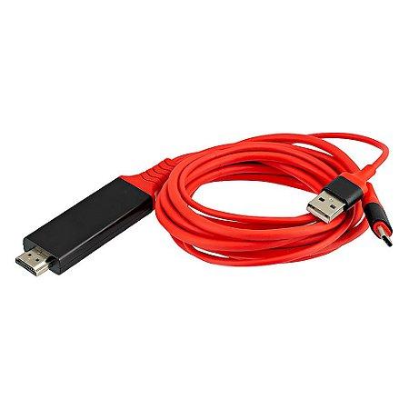 Cabo HDMI 4k para Type C USB - MHL
