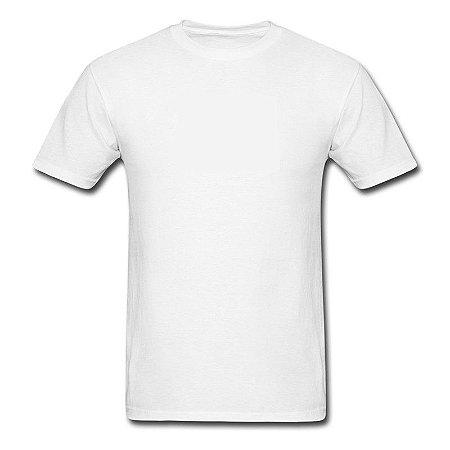 Camiseta Branca 100% Algodão - Fio 30.1 Penteado