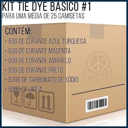 Kit Tie-Dye Básico 1 - 25 camisetas