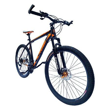 Bicicleta Alfameq Aro 29 Trocadores e Câmbio Shimano 21v Freio Mecânico
