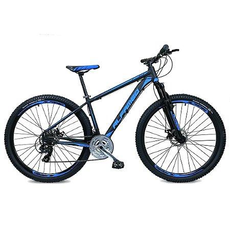 Bicicleta MTB Alfameq Plus 24 Marchas Aro 29 Quadro Alumínio Cambio Shimano