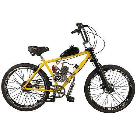 Bicicleta Motorizada Cabeças Bikes Plus Tipo 90cc 2T Aro 26 Banco Simples