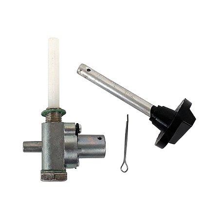 Torneira de Combustível em Aço e Plástico para Caloi XR com Rosca Interna SMX