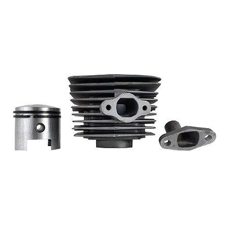 Kit Cilindro Com Coletor e Pistão 80cc em Alumínio Injetado Para Biela Alta ImportWay