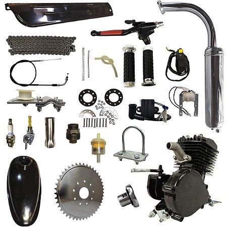Kit Motor Completo Tipo 80cc 2 Tempos Para Bicicleta Motorizada Cabeças Bikes (PREÇO PROMOCIONAL APENAS PARA SITE)