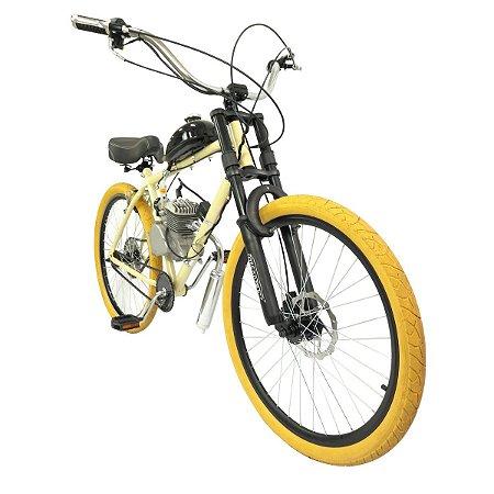 Bicicleta Motorizada Modelo Retro Cabeças Bikes Tipo 80cc 2T Aro 26