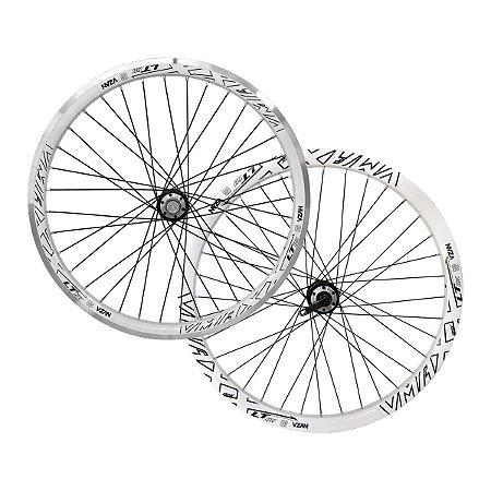 Par de rodas VMaxx Vzan Branco Aro 26 para Bicicleta Motorizada