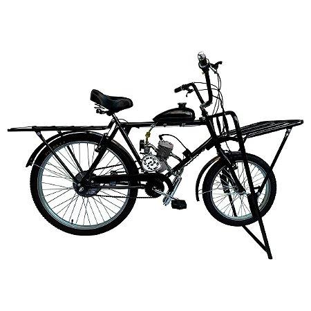 Bicicleta Motorizada Cargueira Tipo 80cc 2 Tempos para Entregas