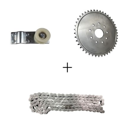 Kit Esticador da Corrente  + Coroa de 44 Dentes em Aço + Corrente 415h