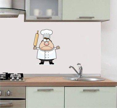 Adesivo de Cozinha - Cozinheiro Maluquinho 27x37cm
