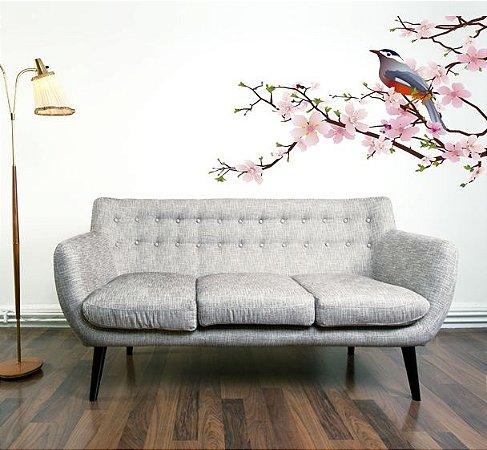 Adesivo de Parede - Cerejeira com Pássaros 90x55cm