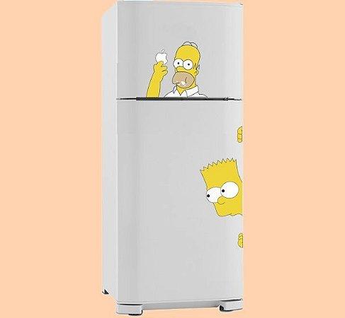 Adesivo de Cozinha - Homer e Bart 23x52cm