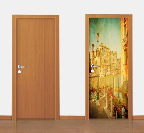 Adesivo para porta - Vintage  90X210 cm