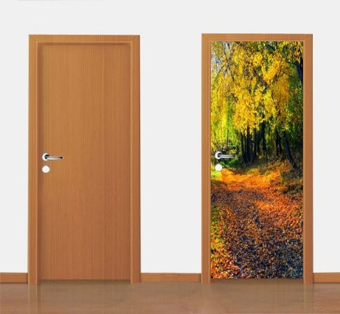 Adesivo para porta - Paisagem de Outono 90X210 cm