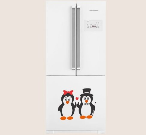 Adesivo de Cozinha - Casal Pinguim 40x34cm