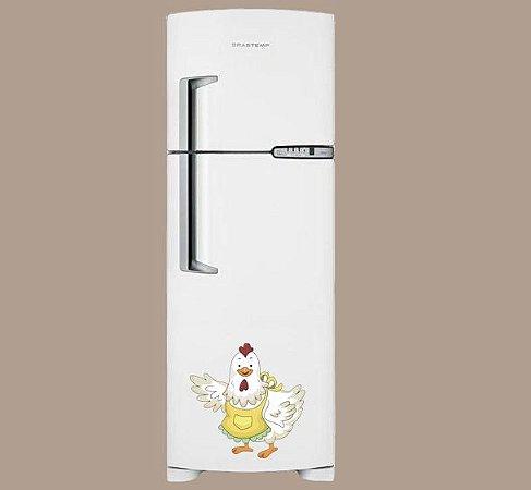 Adesivo de Cozinha - Galinha de Avental 50x50 cm