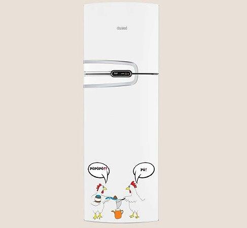 Adesivo de Cozinha - Galinhas Conversando  31x27 cm