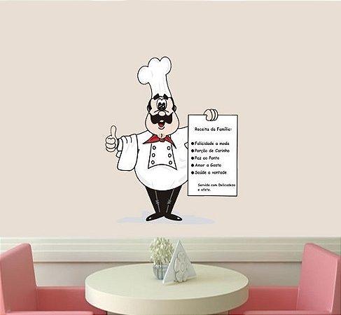 Adesivo de Cozinha - Mestre Cuca 38x50cm
