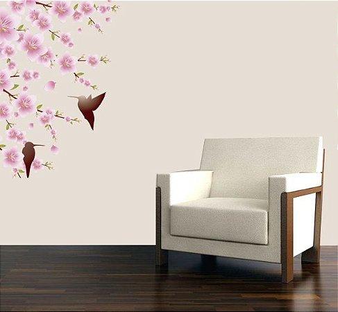 Adesivo de Parede -Beija Flor 54x70
