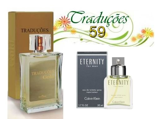 Traduções Gold no 59 Masculino concorrente Eternity Men 100 ml