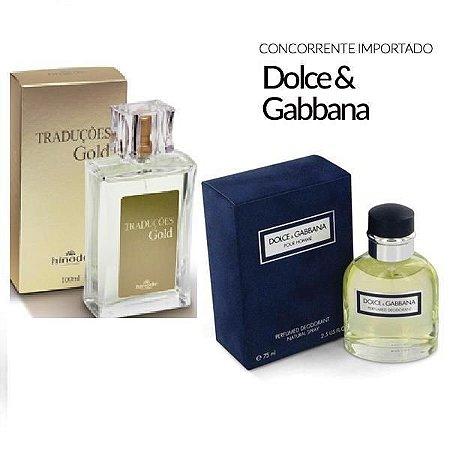 Traduções Gold n° 4 Masculino concorrente Dolce Gabbana 100 ml