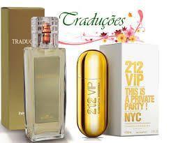 Traduções Gold Nº 63 Feminino concorrente 212 Vip 100 ml