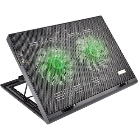 Base Para Notebook Led Green Warrior Gamer Verde Multilaser