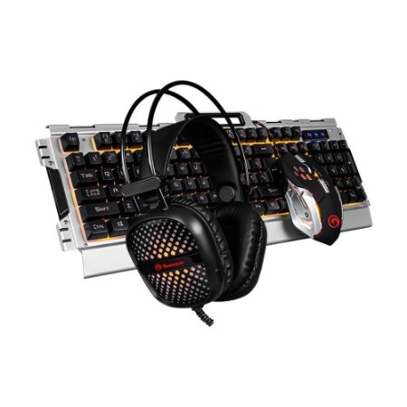 Combo Headset, Teclado E Mouse Gamer Scorpion
