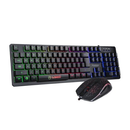 Combo Mouse E Teclado Gamer Scorpion Km- 408