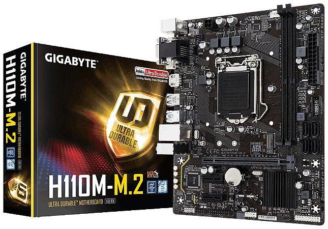 Placa Mae Gigabyte GA-H110M-M.2 (1151/DDR4/M.2/HDMI/microATX)