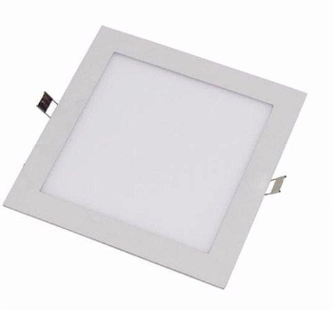 Plafon de Embutir Quadrado 6W - Branco Frio