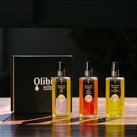 Kit de Azeites Aromatizados Olibi em Spray | Edição limitada (100ml cada)