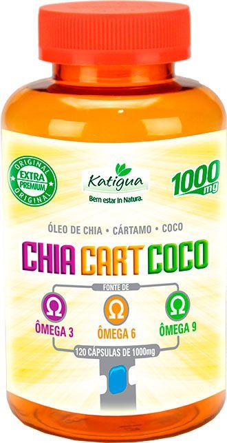 Óleo de Chia + Cártamo + Coco (Omega 3-6-9) de 120 Caps