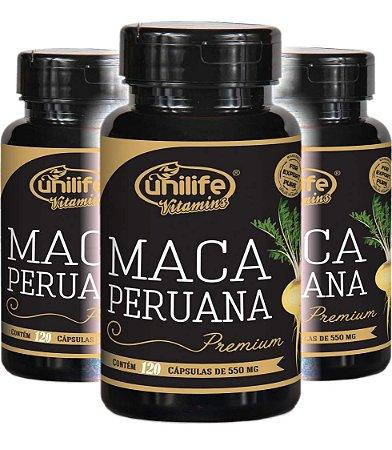 Kit com 360 Cápsulas Maca Peruana 100% Pura - 3 Frascos