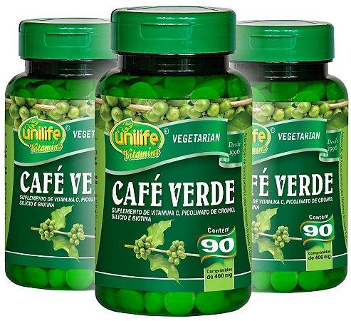 Kit com 3 Café Verde Unilife 270 Comprimidos 400mg