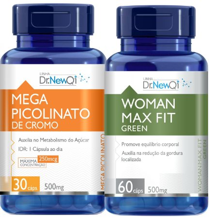 Kit Emagrecedor Woman Max e Picolinato de Cromo
