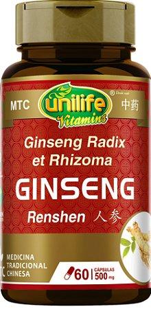 Ginseng (Panax) - Ren Shen MTC - 500Mg - 60 Cápsulas - Unilife