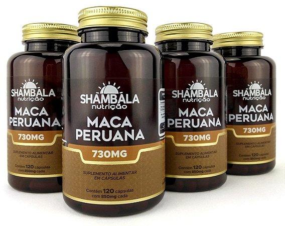 Kit 4 Maca Peruana de 700mg Shambala com 480 caps