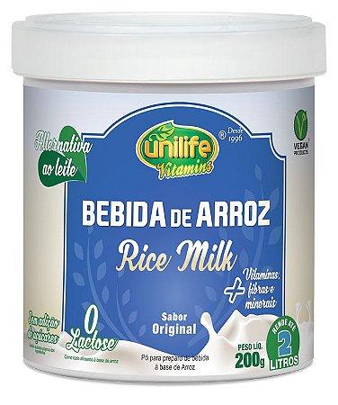 Leite em Po de Arroz - Rice Milk Natural - 200g Unilife