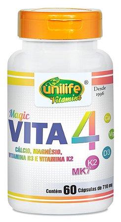 Vita4  com Cálcio, Magnésio, Vitamina D3 e Vitamina K2