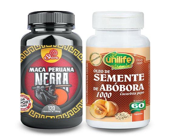 Maca Peruana Negra e Óleo Semente de Abóbora - 180 caps