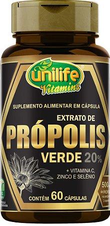 Extrato de Própolis Verde  - 60 cápsulas - 500mg - Unilife